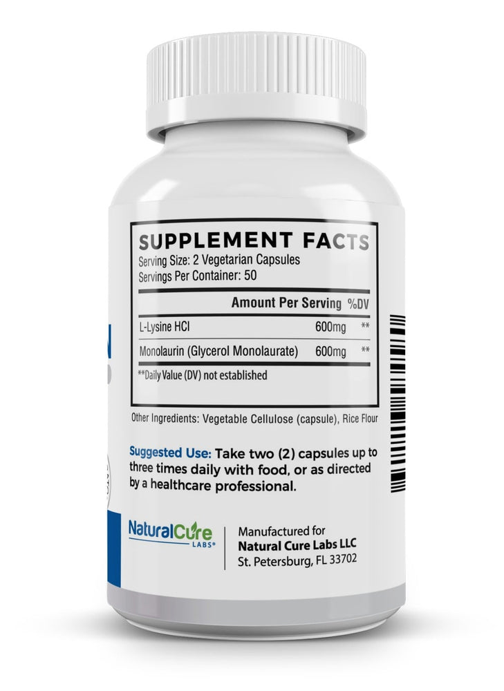 Load image into Gallery viewer, L-Lysine + Monolaurin 600mg