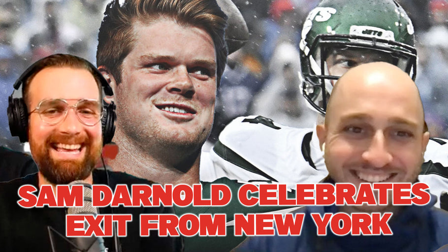 Sam Darnold celebrates exit from New York
