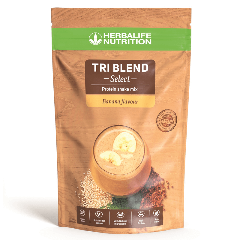 Herbalife Tri Blend Select - Protein Shake Mix - Banana Flavour - 600g