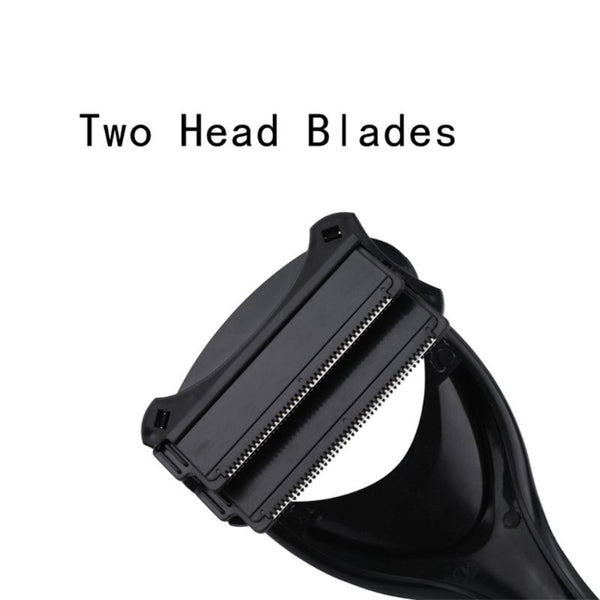 Do-it-yourself  Head Blade Back Hair shaving device