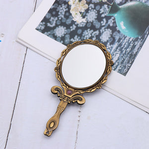 DIY Metal Foldable Mirror Women Make Up Use Mirror Mini Small Size Mirror Bronze Color