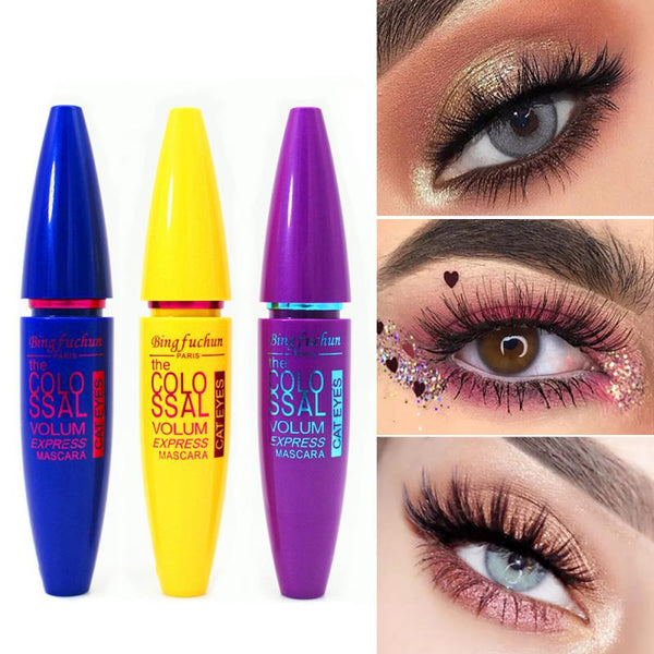 1Pc Makeup Mascara Long Thick Curling Lengthening Make Up Eyes Curling Waterproof Non Staining Grind Texture Crust mascara TSLM2