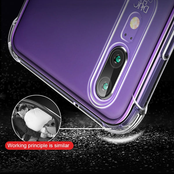 Super Shockproof Case For Huawei P20 P30 Pro Honor 10 Lite Mate 20 X Nova 5 P smart 2021 Soft Silicone Mobile Phone Luxury Cover