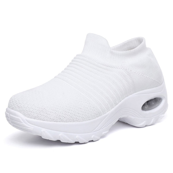 Newbeads Women's Slip On Sock Walking Shoes Air Cushion Casual Female Breathable Sports Winter Sneakers Rockin Shoes Big Size
