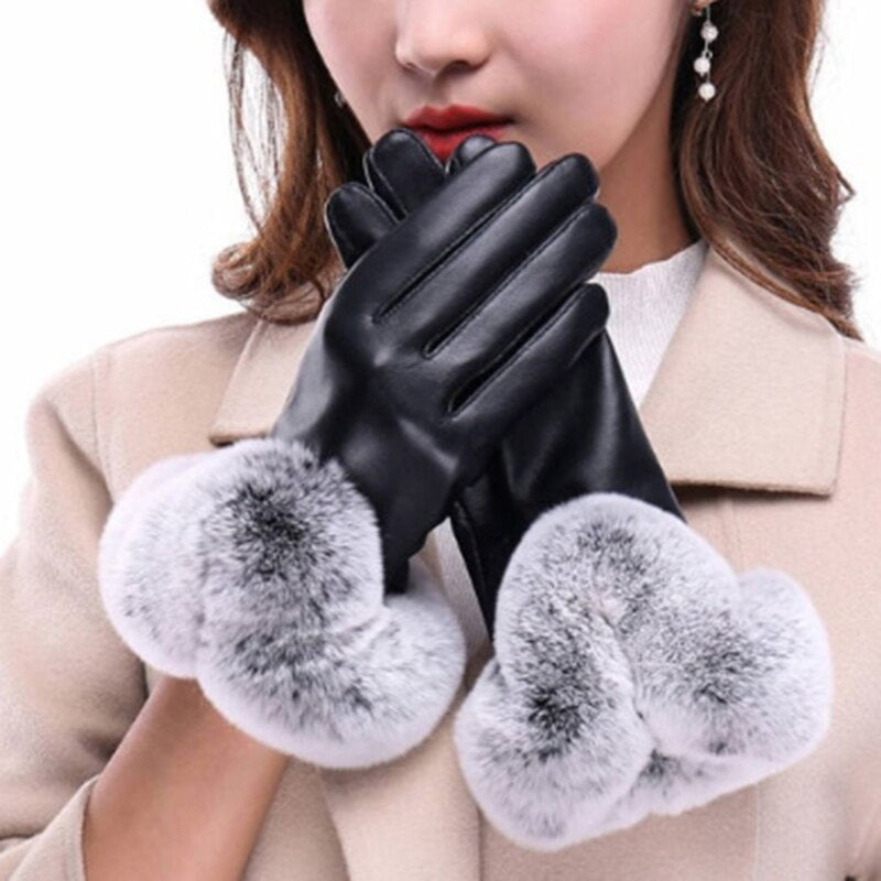 New Fashion Women's Keep Warm Gloves Winter Soft Lining Gants Femme Decoration Hand Gloves Guantes Invierno Mujer
