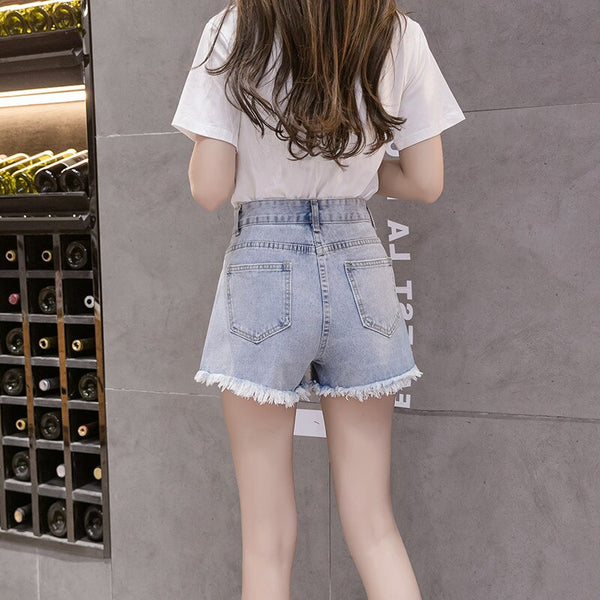 Hot Summer Women Sets Fashion Short Sleeve T-Shirt And Jeans Shorts Two-piece Set Female Embroidery 3D Flower Casual Suits Y230