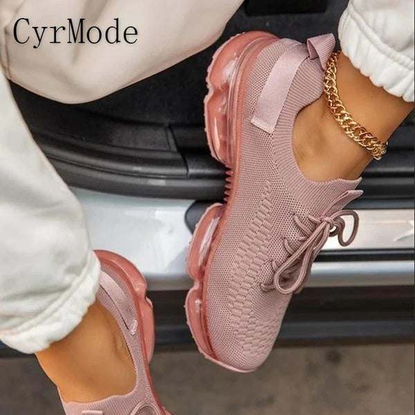 Women Running Shoes Solid Autumn Breathable Mesh Women Platform Vulcanized Shoes Plus Size Ladies Walking Shoes Women Sneakers