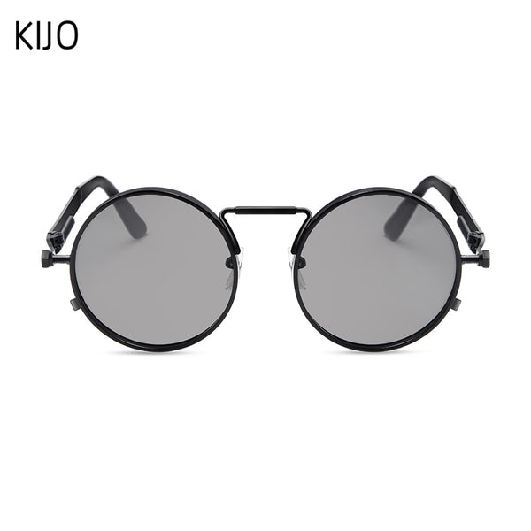 Vintage Men Sunglasses Women Retro Punk Style Round Metal Frame Colorful Lens Sun Glasses Fashion Eyewear Gafas sol mujer