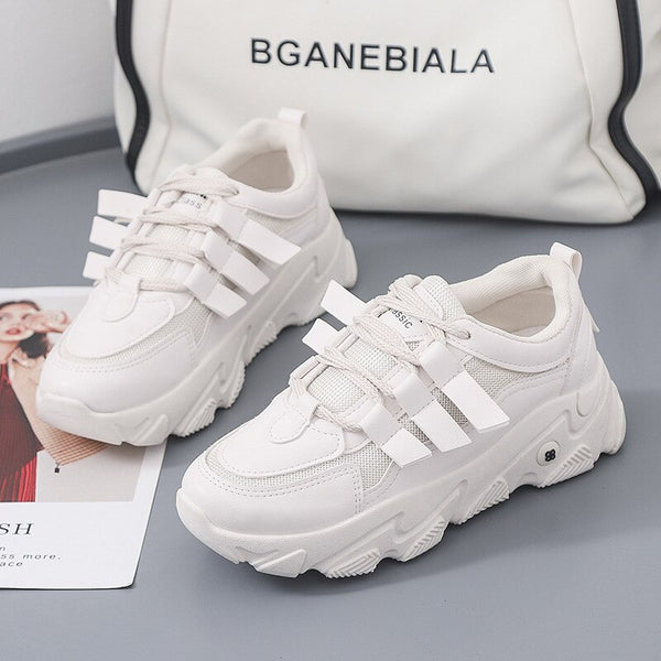Fashion Trend Sneakers Women Breathable 35-40Size Women's Running Shoes Non-Slip Wear-Resistant EVA Flat-heeled Vulcanized Shoes