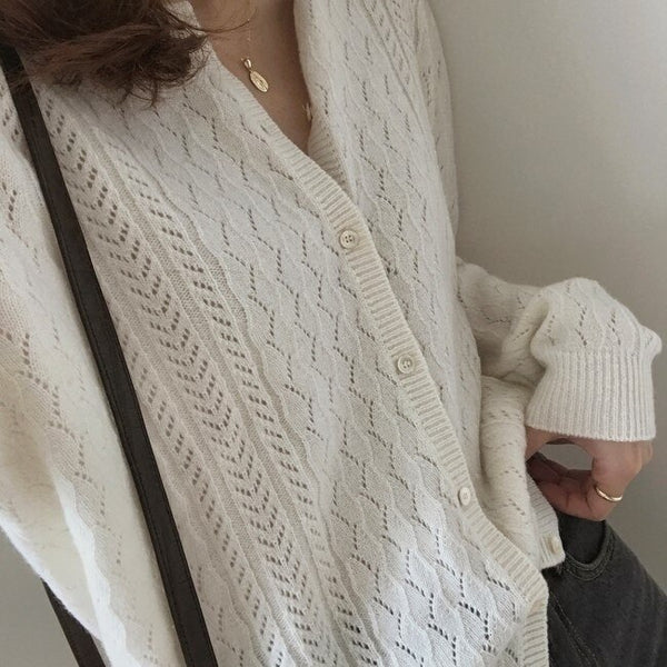 New Winter Sweater Women Cardigan Girls Tops Vintage Long Sleeve Autumn Female Elegant Knitted Outerwear Warm Sweater Oversize