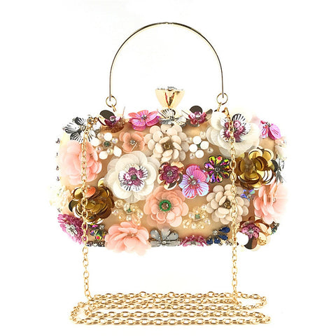 OCARDIAN Handbags Luxury Fashion Women Bags Designer Flower Decoration Clutches Evening Chain Crossbody Bags Party Fashion M7
