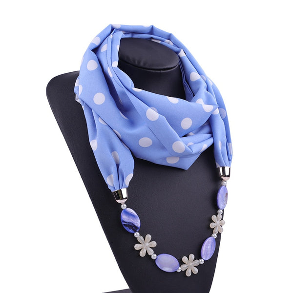 RUNMEIFA Multi-style Jewelry Statement Necklace Pendant Scarf Women Bohemia Neckerchief Foulard Femme Accessories Hijab Stores