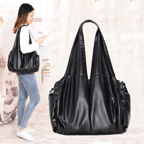 2021 PU hobo Luxury top-handle ladies Handbag Women Shoulder Bags soft messenger satchel Bag Pu-Leather female tote sac a main