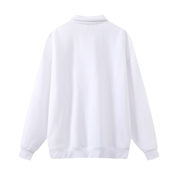 Loose girls casual cotton sweatshirts 2020 autumn fashion ladies elegant white pullovers female soft sweatshirt cute women chic