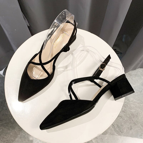 FASHION WOMEN'S SHOES ICCLEK 2021 SPRING NEW STYLE POINTED THIN SHOES FOR LADIES COMFORTABLE BREATHABLE