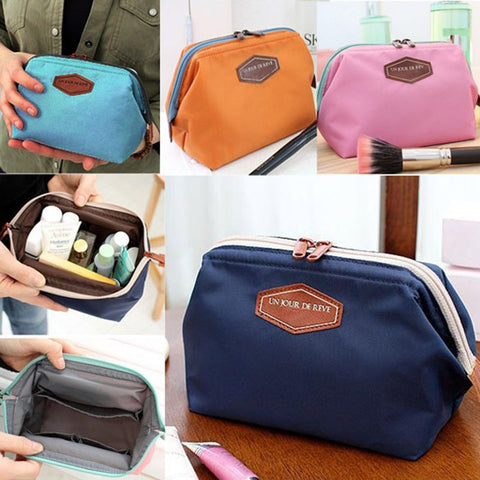 Beauty Cute Women Lady Travel Makeup Bag Cosmetic Pouch Clutch Handbag Casual Purse SEC88