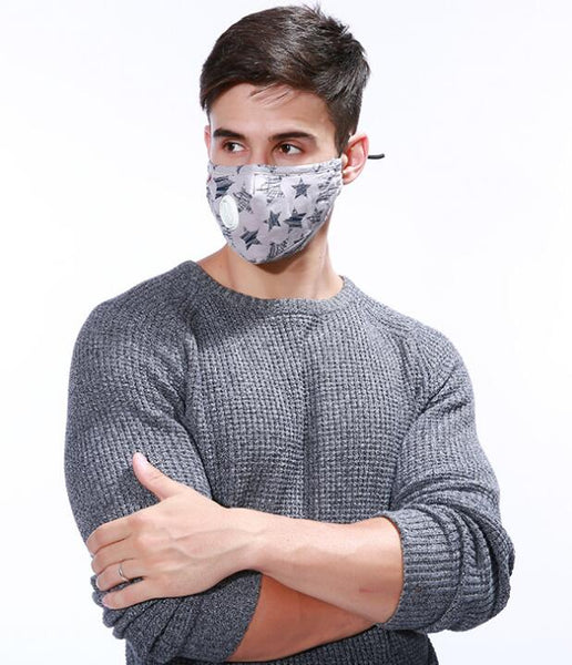 Men female Anti Haze PM2.5 Mask Breath Valve Anti-dust pp pp cotton Mouth Mask Activated Carbon Filter Respirator Mouth-muffle Mask