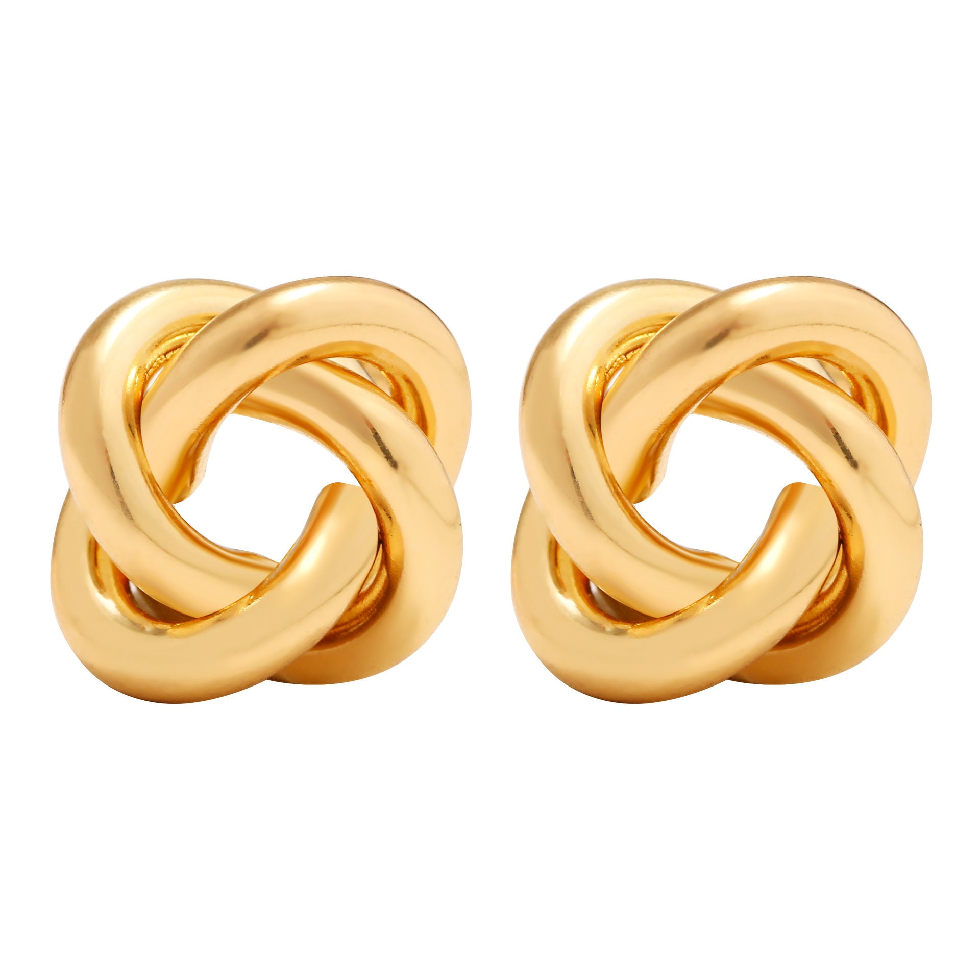 New fashion jewelry Europe and America personality alloy circle winding tide female earrings temperament popular earrings foreign trade wholesale