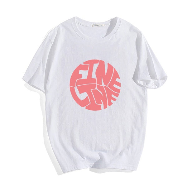 Harry Styles Fine Line Korean T Shirt Women Fashion Tops Shirts Short Sleeve Round Nack T-Shirts Leisure Top Tee Casual Ladies