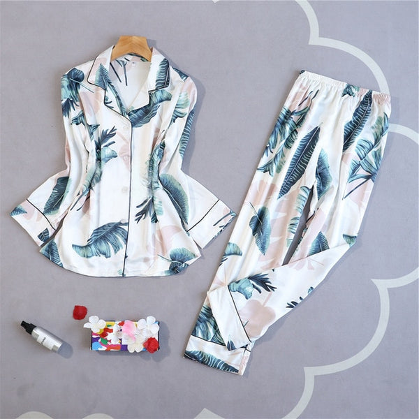Oversize Womens Shirt Pants Pajamas Sets Sleepwear Home Wear Nightgown Suit Robe Bath Gown Spring Autumn Sleepshirts M-5XL