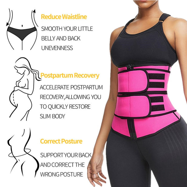 S-3XL Waist Trainer Neoprene Belt Weight Loss Cincher Body Shaper Tummy Control Strap Slimming Sweat Fat Burning Belt Product NS