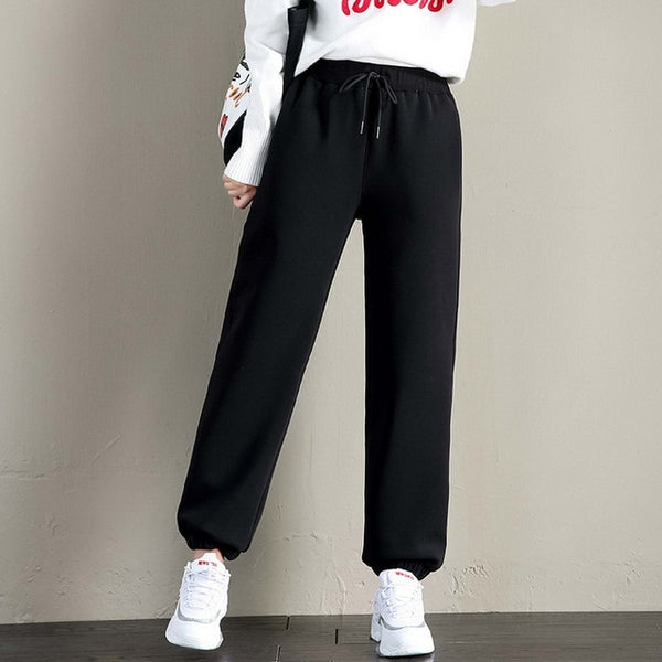 2020 Winter Women Gym Sweatpants Workout Fleece Trousers Solid Thick Warm Winter Female Sport Pants Running Pantalones Mujer
