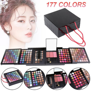 153 Color Long Lasting Waterproof Shimmer Makeup Kit Glitter Matte Eyeshadow Eyebrow Blush Palette Travel Cosmetics Set