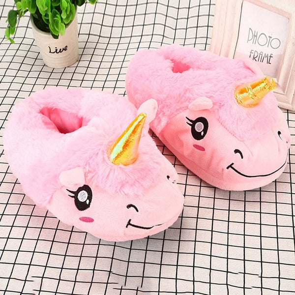 Winter Slippers Ladies Home Shoes Fur Slippers Women House Shoes Unicorn Slippers 2020 Classic Pantoufle Femme