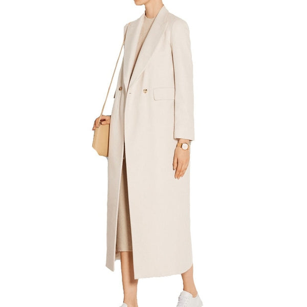 2021 New Trench Coat Women Autumn Winter Beige Long Fashion Outerwear New Manteau Femme Simple Maxi Overcoat Classic Slim Coats