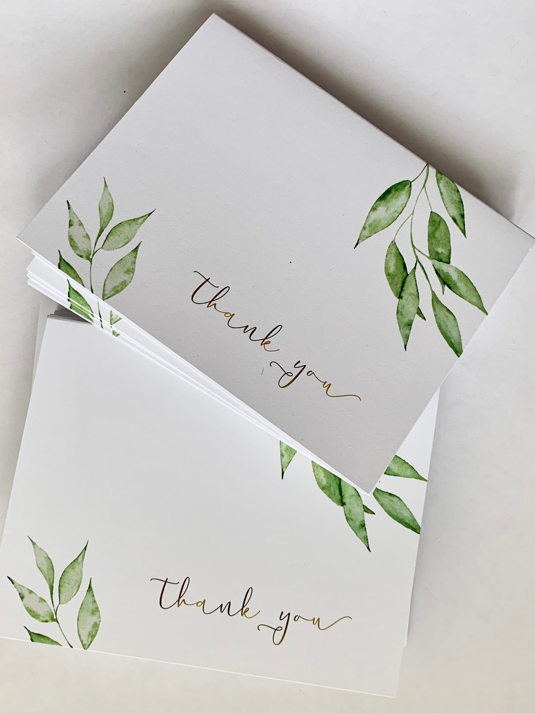 10 Thank You Cards with Envelopes