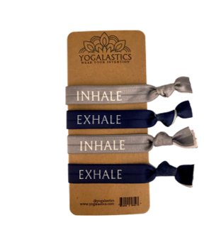 Inhale/Exhale Hair Ties