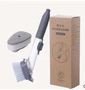 WASHING BRUSH with WITH LIQUID DISPENSER🌟