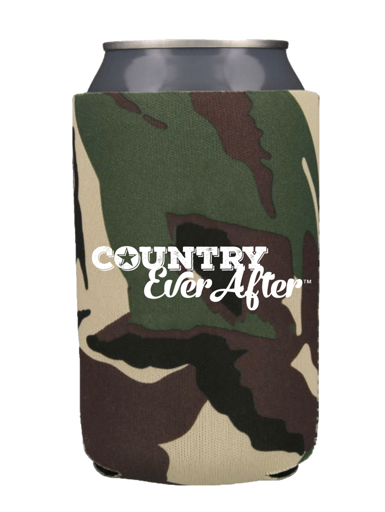 Country Ever After Logo Can Cooler - Camo