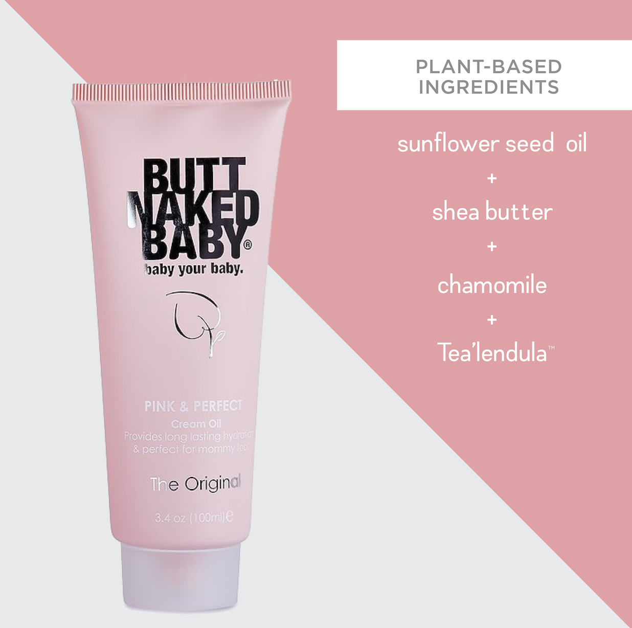 Pink & Perfect Cream Oil - ButtNakedBaby