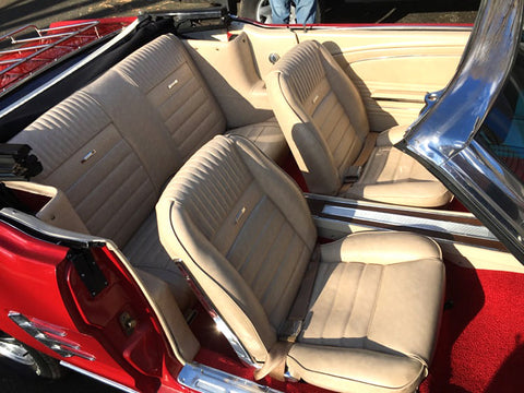1965 Mustang seat cover intallation and restoration