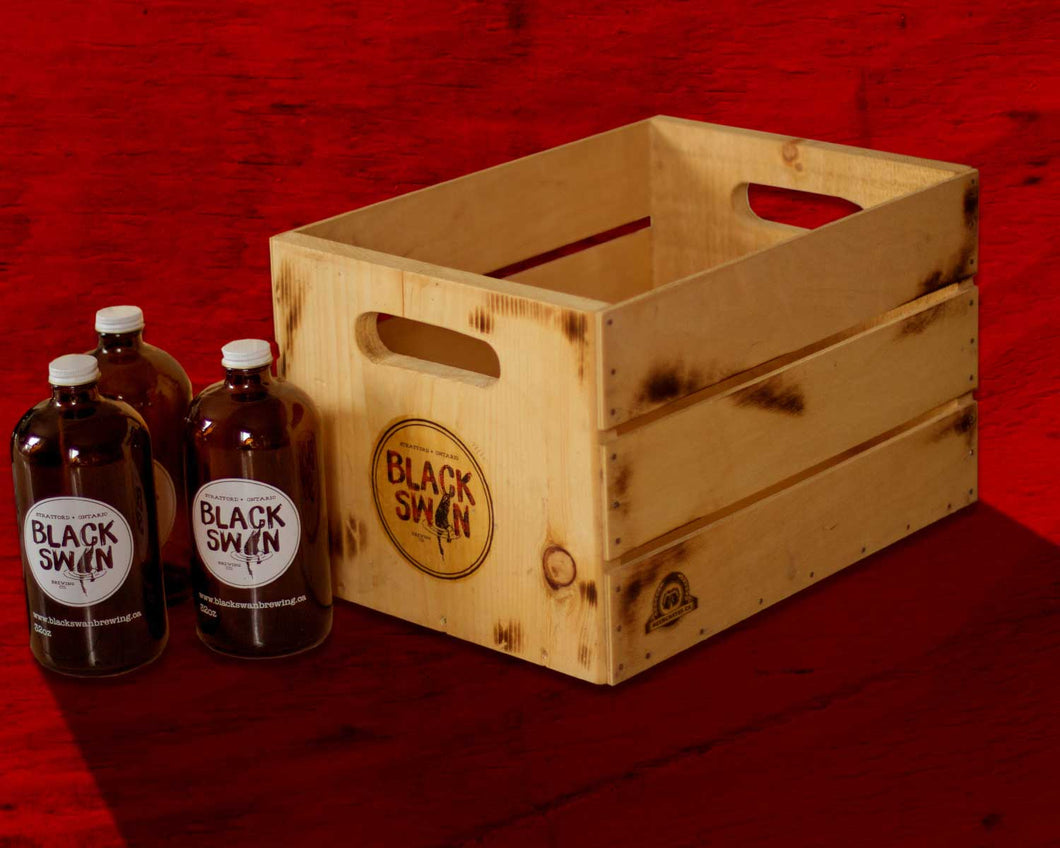 Vintage Beer Crate – Holds 12 Boston Round Bottles