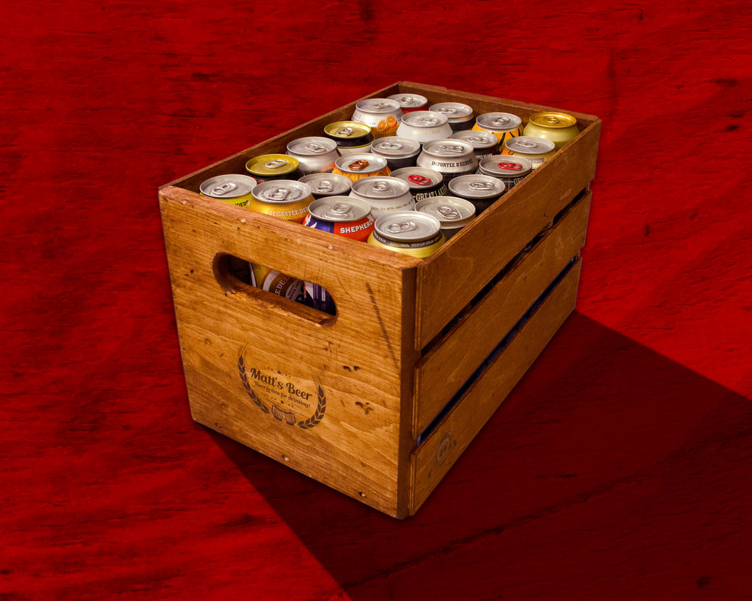 Vintage Beer Can Crate – Holds 24 Cans