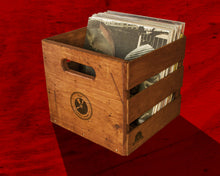 Load image into Gallery viewer, Vintage Record Crate – Holds 70 LPs