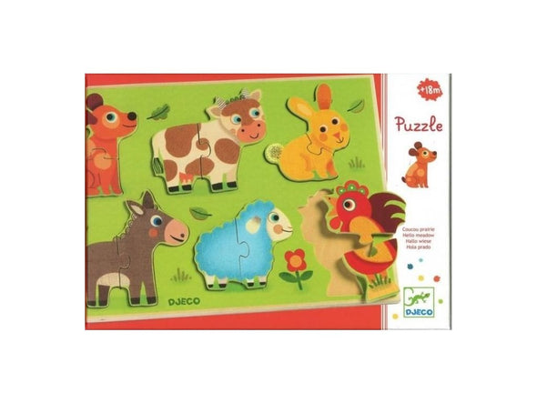 Puzzle relief - coucou cow - dj01259