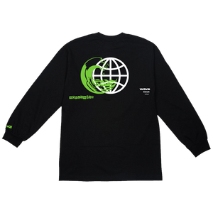 Wave Star Black Long Sleeve