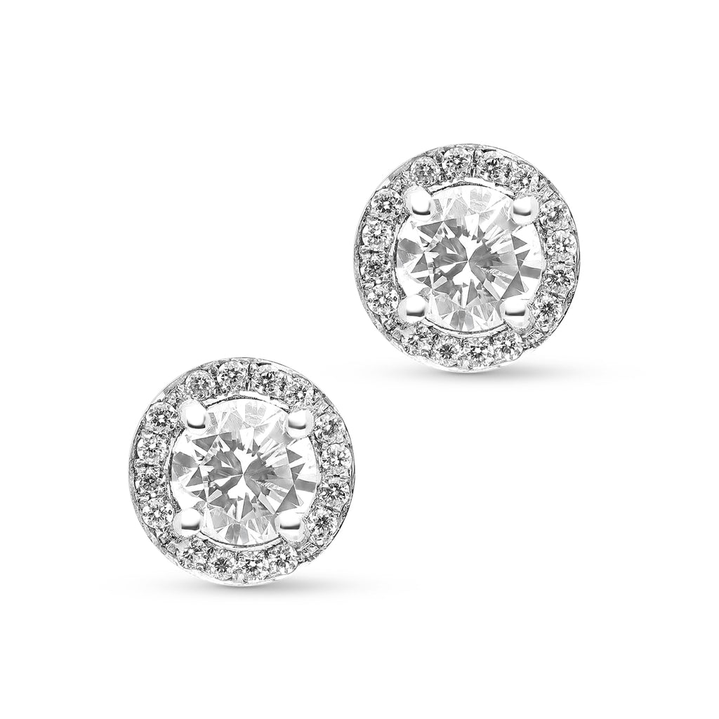 1.16 Carat Halo Diamond Studs