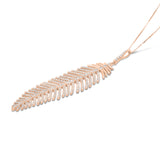 Rose Gold Diamond Feather Pendant