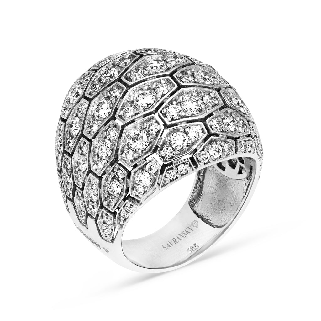 Diamond Pave Dome Cocktail Ring