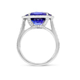 8.61 Carat Ocean Blue Tanzanite ring - Gorgona