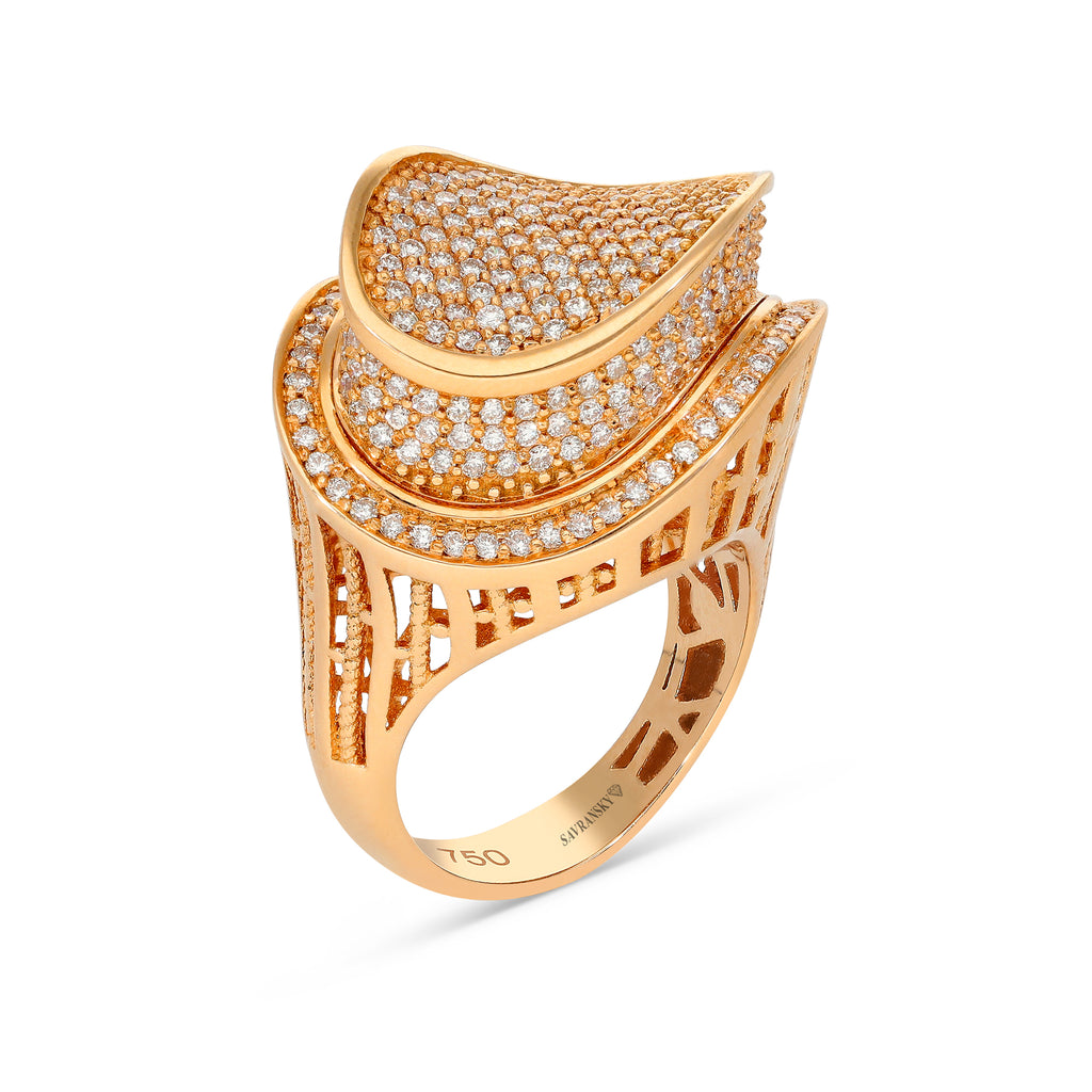 Rose Gold Inviable Pave Ring