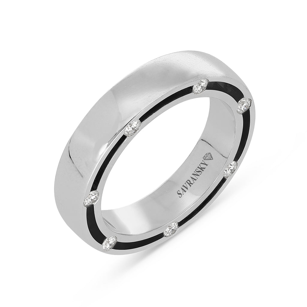 18 Karat white Gold men's ring