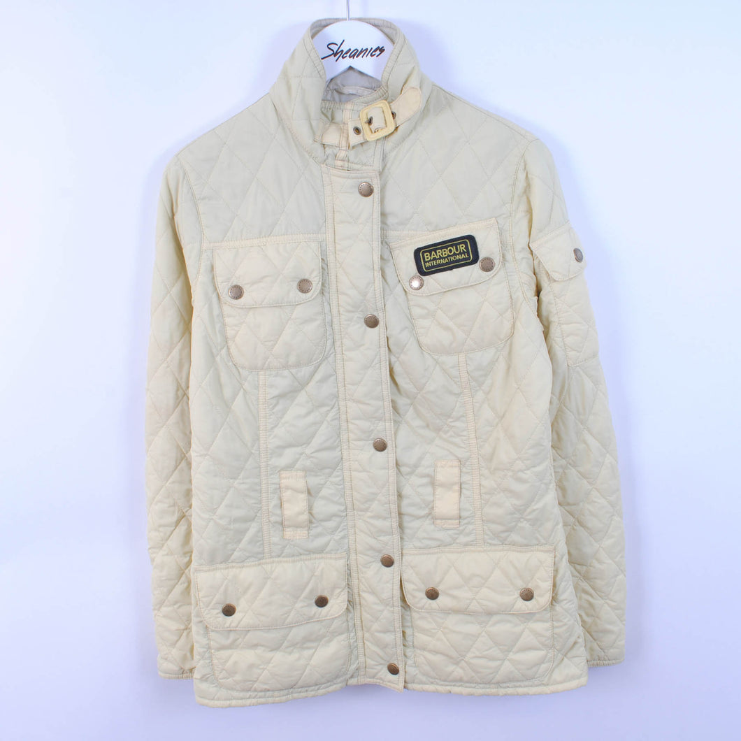 Barbour International Women's Quilted Jacket In Yellow Size UK 8