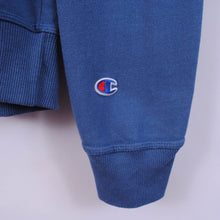Load image into Gallery viewer, Champion 1/4 Zip Sweatshirt In Blue Size M