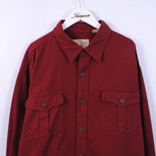 Load image into Gallery viewer, Heavy Flannel Shirt In Red Size 2XL