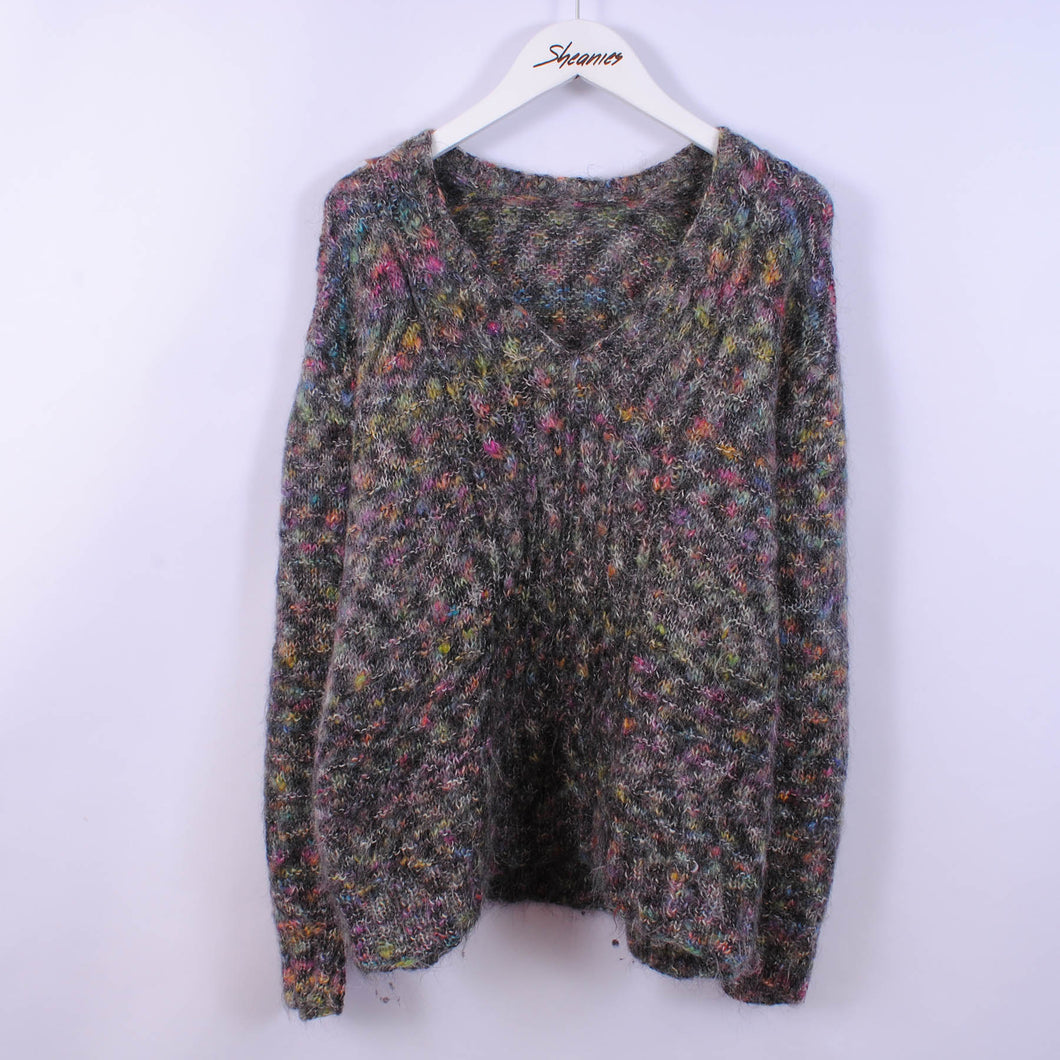 Vintage Multicolored Knitted Jumper Women's Size S-M